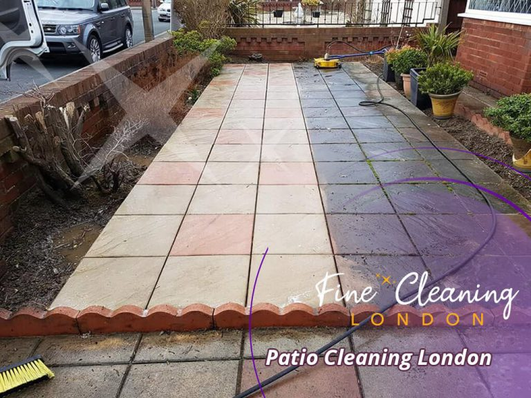 image of patio cleaning